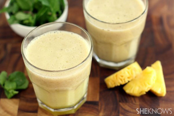 Tropical coconut mint smoothie