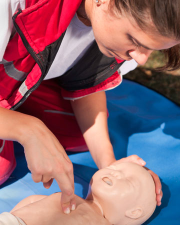 Learning the basics of first aid