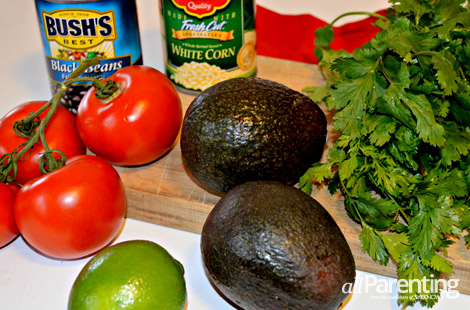 black bean summer salad ingredients