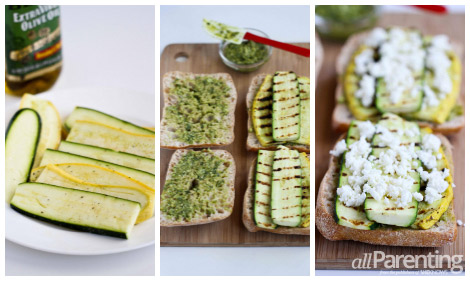 allParenting Grilled summer vegetable panini collage