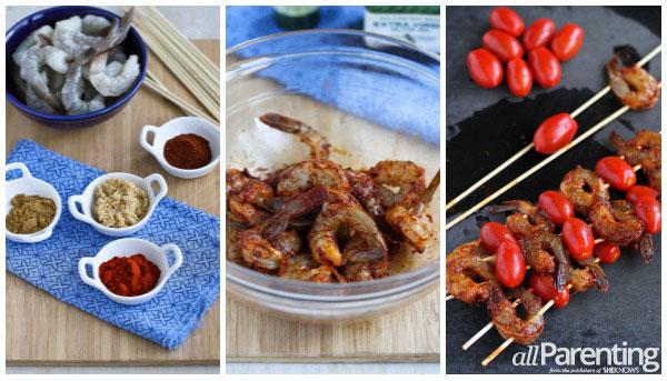Spicy shrimp & tomato kebabs allParenting