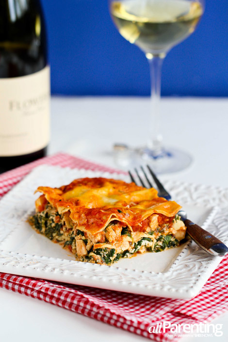 allParenting Chicken and spinach lasagna