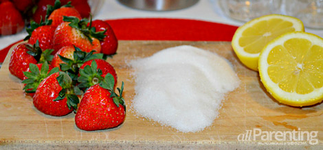allPArenting fresh strawberry jam ingredients