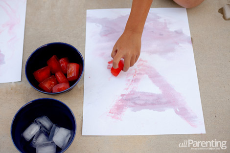 allParenting ice activities Paint with ice