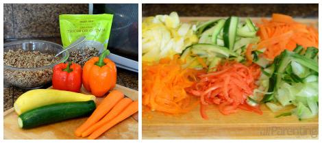 allParenting Summer vegetable quinoa salad collage