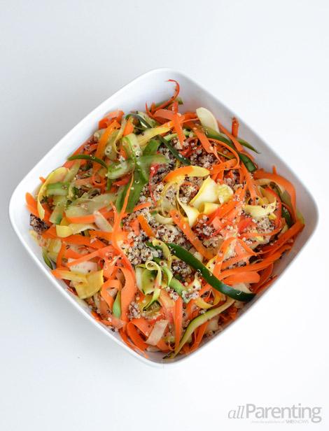 allParenting Summer vegetable quinoa salad