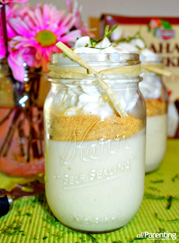 allParenting Key Lime pie mason jars