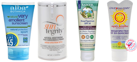 allParenting non-toxic Sunscreen recommendations