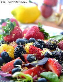 Yellow Watermelon Berry Salad