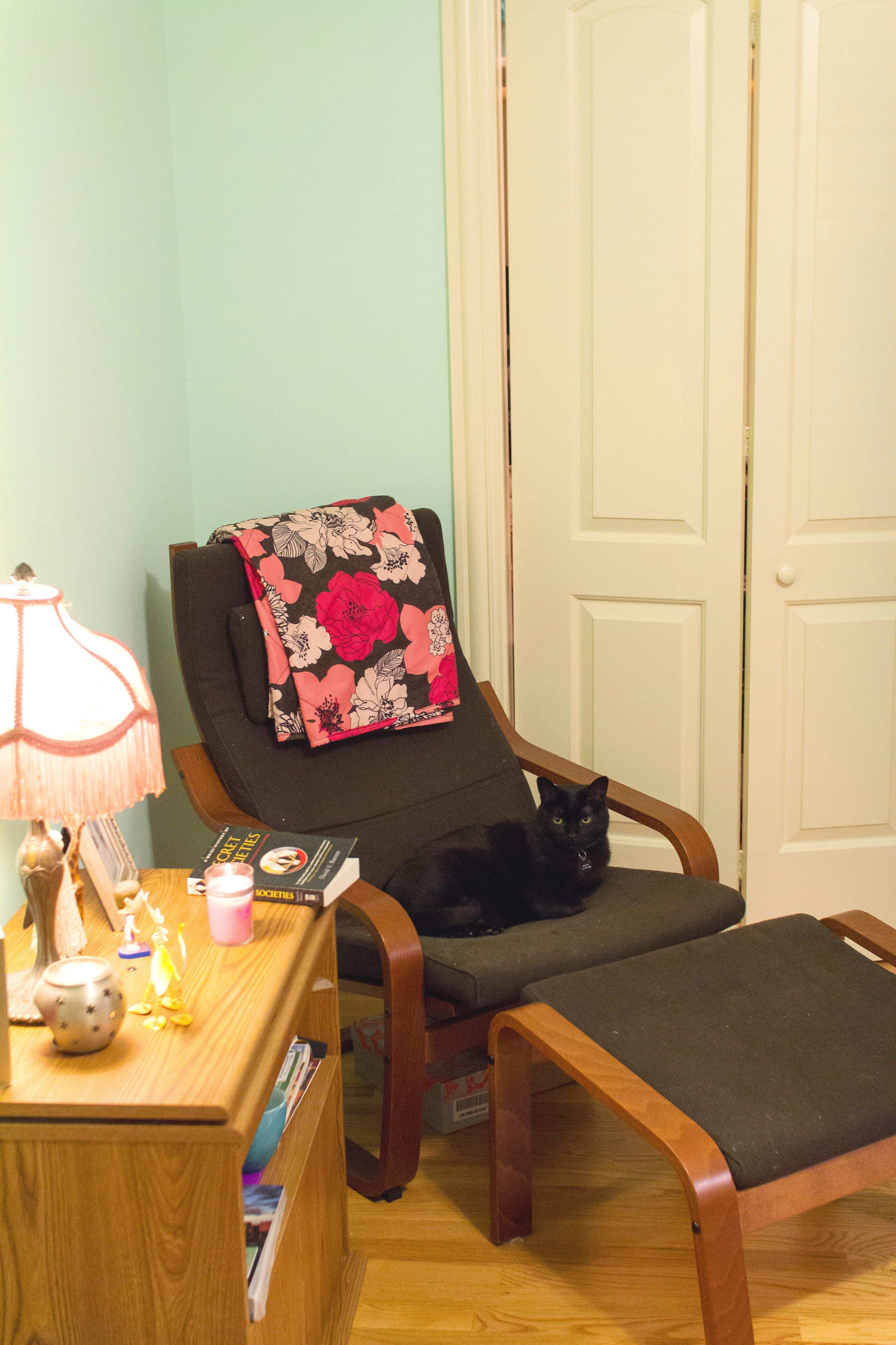 Sara's reading area