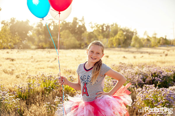 Colorful balloon photo props