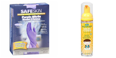 FIrst aid kit- gloves and Neosporin spray