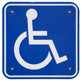 handicap sign isolated