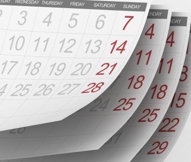 multiple calendar pages