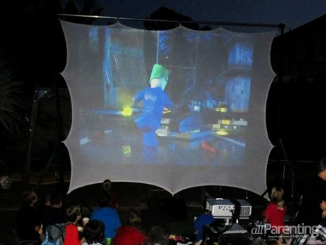 allParenting nighttime activities outdoor movie