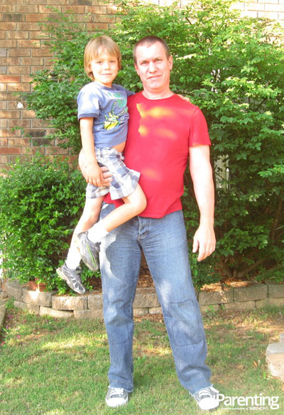 David Bakke and son