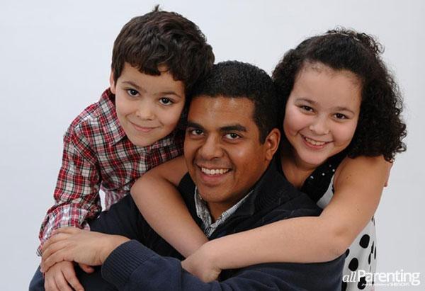 Rich Holt and children