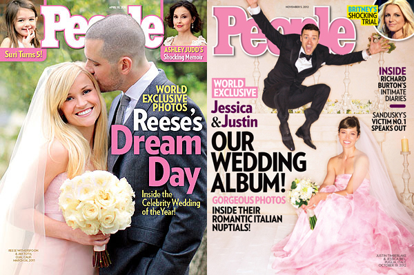 Pink Celebrity Wedding Dresses