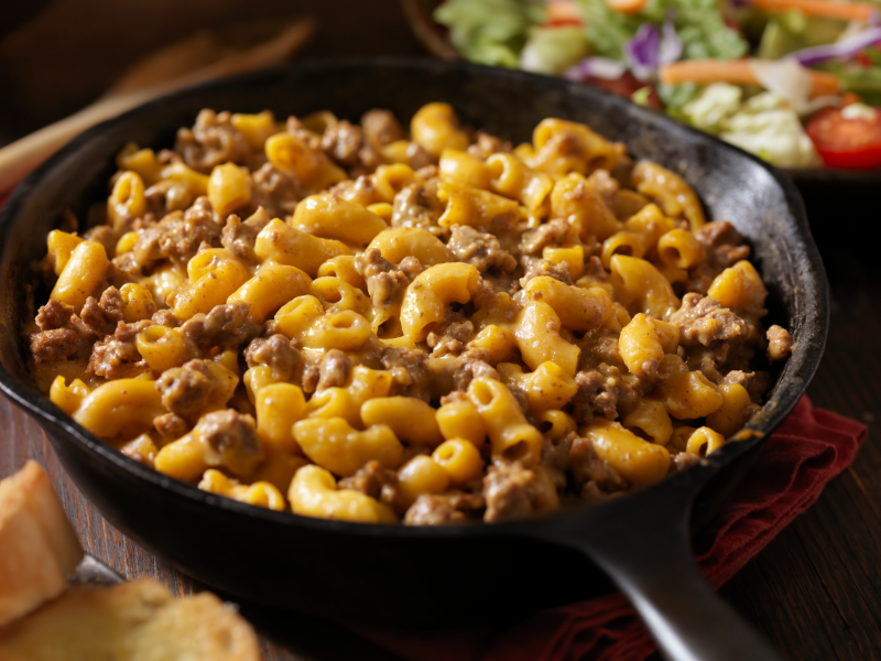 cheeseburger pasta