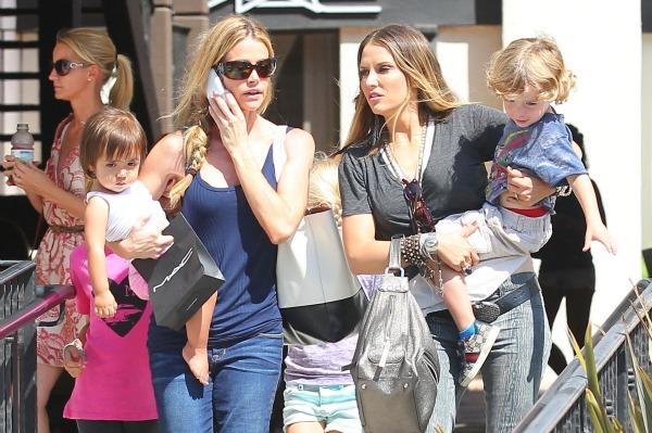 Charlie Sheen's rotating baby mamas