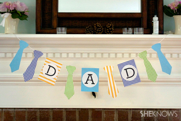 Father's Day mantle banner