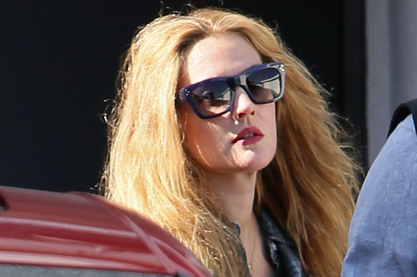Drew Barrymore lightens up!