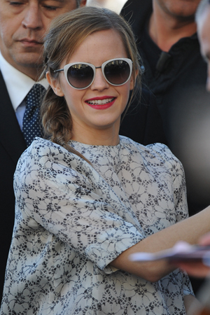 Emma Watson Cannes casual look with sunglassses