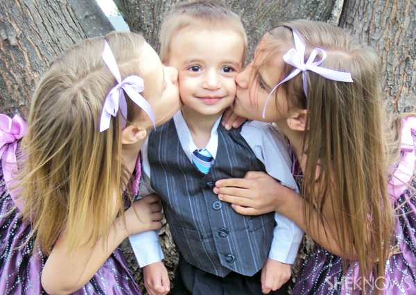 Ethan and his sisters