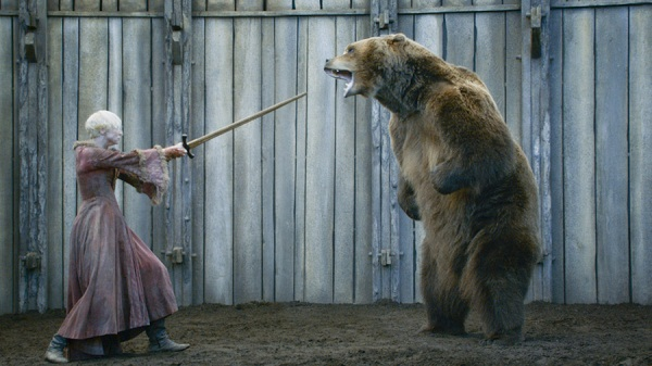 Brienne fights a bear