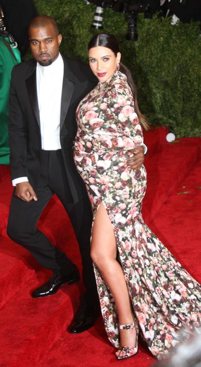 Pregnant Kim Kardashian, Kanye West Met Gala