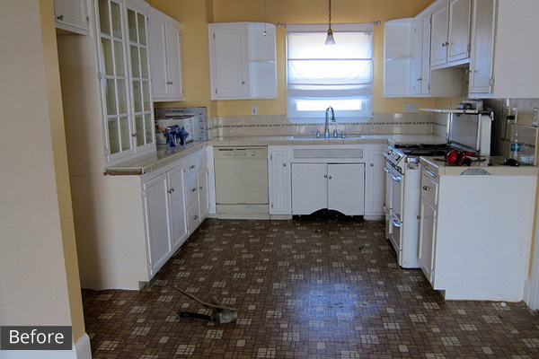 Our City Lights kitchen before