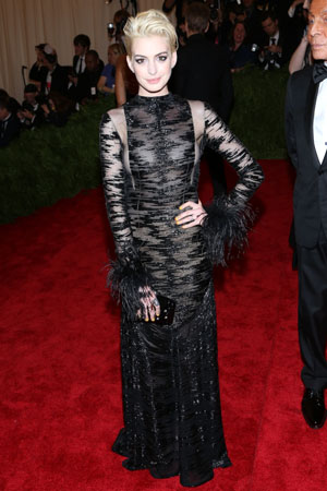 Anne Hathaway at the Met Gala