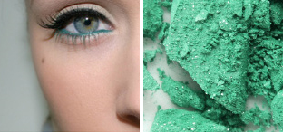 mint colored makeup
