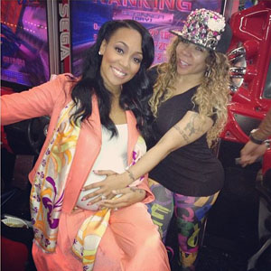 Pregnant Monica and Tiny