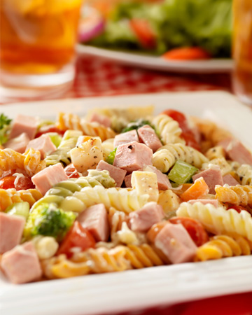 Pasta salad for picnic