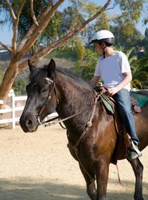 Teen on a horse