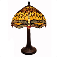 gold and black Tiffany lamps