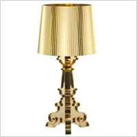 glitzy, gold table lamps