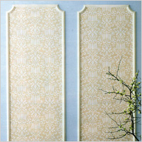 frame sparkly gold wall paper