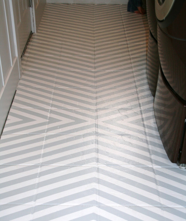 Chevron and white floor
