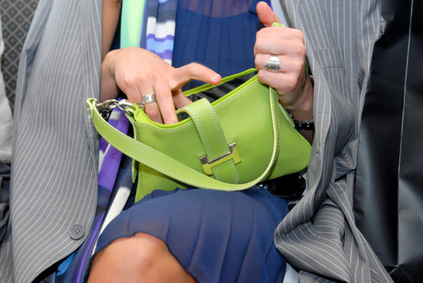 Leather handbags hold most germs