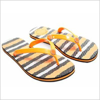 Fish stripe flip flops