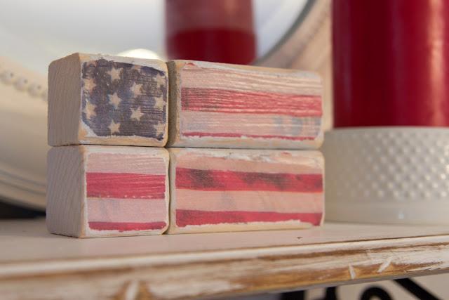 American Flag Block