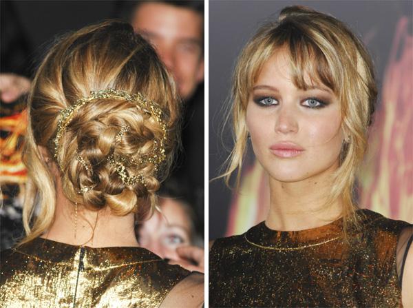 Jennifer Lawrence's braided bun