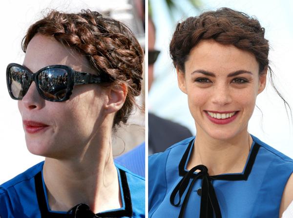 Berenice Bejo's braided updo