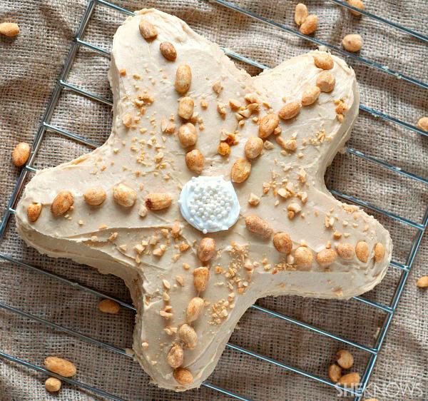 Peanut butter starfish cake