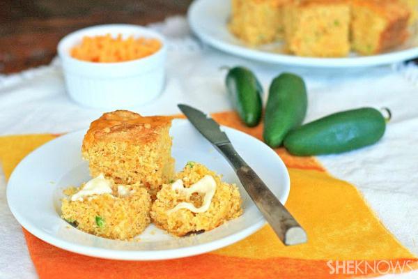 Gluten-free jalapeño cheddar cornbread