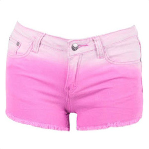 Pink Dip Dye Shorts from FashionUnion.com