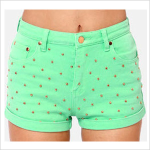 Mink Pink Cheeky Mint Green Studded by LuLu's