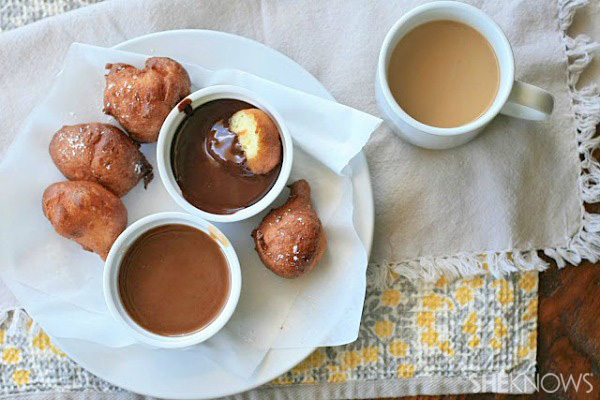 Ricotta Drop Doughnuts With Fresh Cherry Sauce Recipes — Dishmaps